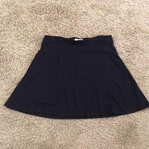 Loft navy blue flowy skirt